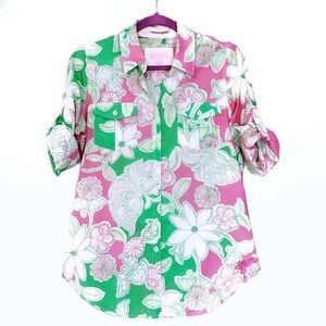 Lilly Pulitzer Prep Green HTS Resort Fit Button Up